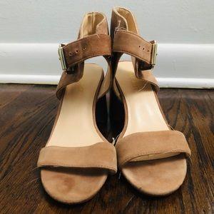 Nine West Nude Sandals Size 6